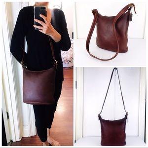 Coach Vintage NYC Leather Slim Duffle Shoulder Bag